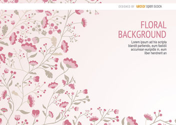 Pink long stems floral background - Free vector #163537