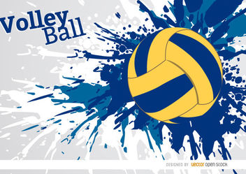 Volleyball grunge paint background - бесплатный vector #163697