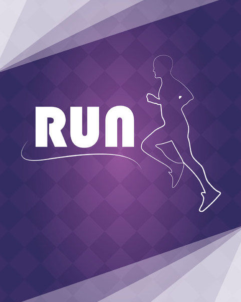Running Logo on Checker Pattern - Free vector #163777