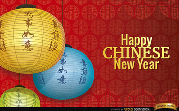 Chinese New Year decoration balls wallpaper - Free vector #163957