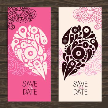 Creative Two Folds Decorative Valentine Card - бесплатный vector #163967