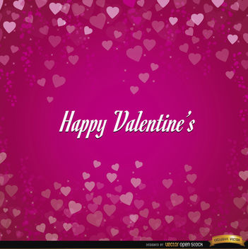 Happy Valentines hearts background - vector gratuit #164067
