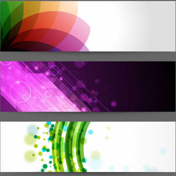 3 Abstract Creative Banner Layouts - vector #164087 gratis