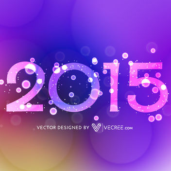 Decorative 2015 Text on Colorful Background - vector #164147 gratis