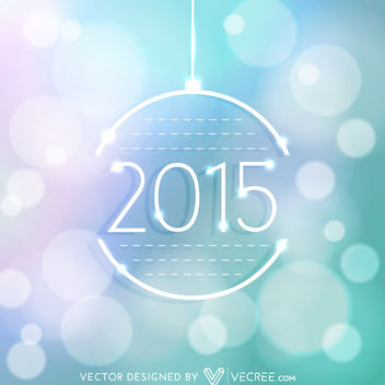 2015 Xmas Ball on Colorful Bokeh Background - Free vector #164207
