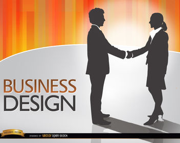 Man woman shake hands deal - Free vector #164247