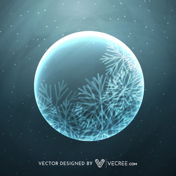 Christmas Moon on Night Background - vector #164257 gratis
