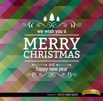 Christmas colorful polygon oblique bars - Free vector #164397
