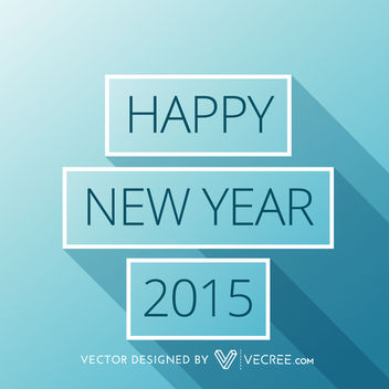 New Year Greetings inside Long Shadowed Rectangles - Kostenloses vector #164437