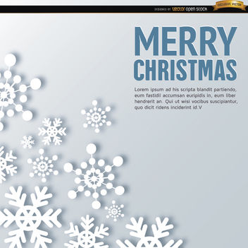 Merry Christmas snowflake shapes background - Free vector #164507