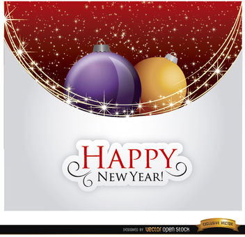Happy New Year Christmas balls - vector gratuit #164527