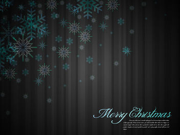 Blue White Snowflakes on Grey Stripe Background - Free vector #164537