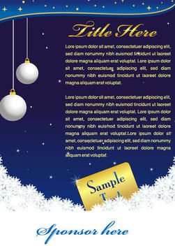 Blue Xmas Card with Snowflake & Bauble - vector gratuit #164577