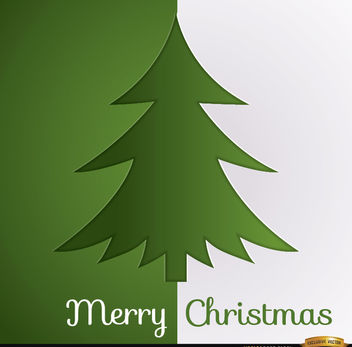 Christmas tree green white background - vector gratuit #164677