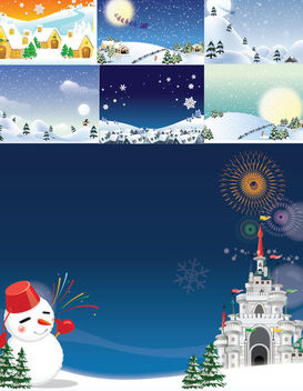 Funky Style Snowy Christmas Background Pack - Free vector #164717