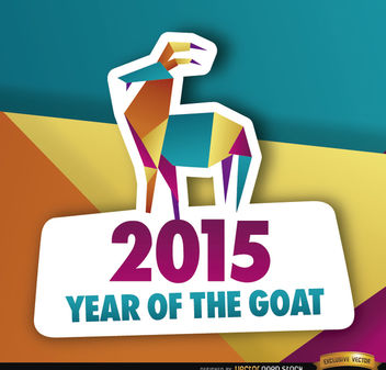 2015 colorful polygon year goat background - Free vector #164847