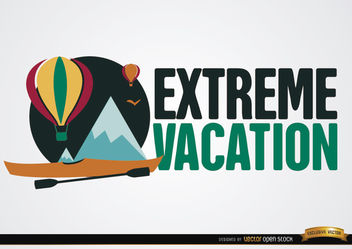 Extreme vacation background - vector gratuit #164917
