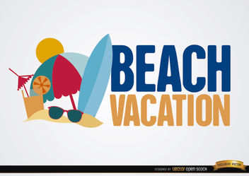 Beach vacation background - бесплатный vector #164927
