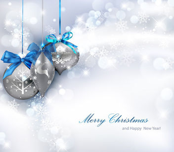 Shiny Silver Christmas Background - vector gratuit #164967