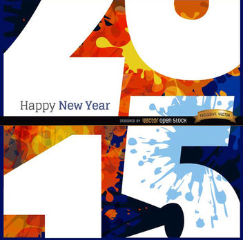 Happy 2015 grunge close view background - Free vector #165167