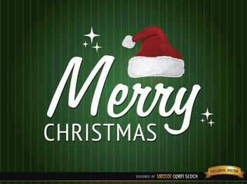 Merry Christmas hat background - vector gratuit #165207