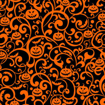Swirling Floral and Pumpkin Texture Background - vector #165307 gratis