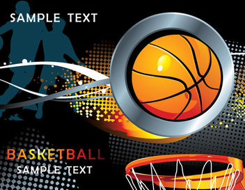 Cool Basketball Background with Halftones - vector gratuit #165327