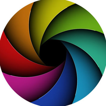 Multicolor Curves Vortex Circle - бесплатный vector #165367