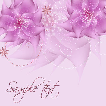 Romantic Full Blossom Pink Flower Sparkles Background - vector gratuit #165417