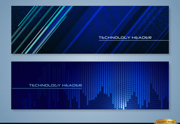 Blue technology headers - Free vector #165517