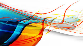 Creative Floating Curves & Lines Colorful Background - Free vector #165547