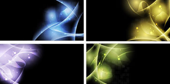 Abstract Light Shade & Curves Background Set - бесплатный vector #165627