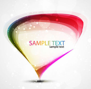 Colorful Droplet Banner Template - Free vector #165677