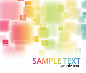 Colorful Abstract Fluorescent Squares Background - vector gratuit #165697