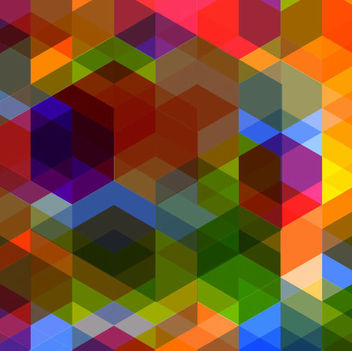 Rhombus Arrowhead Polygonal Colorful Background - vector gratuit #165807