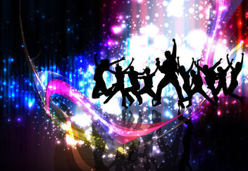 Colorful Party Night Celebration Background - бесплатный vector #165847