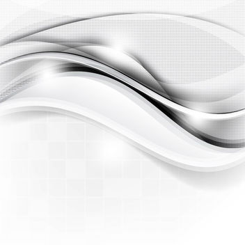 Abstract Waves & Dotted Texture Silver Background - Free vector #165897