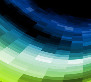 Curvy Formed Colorful Mosaic Tiled Background - Free vector #165917
