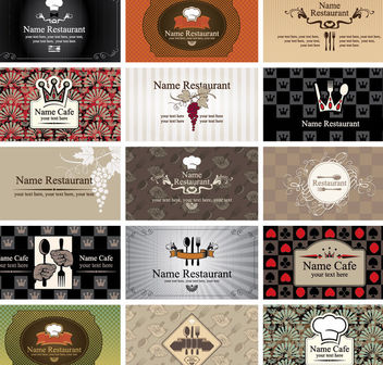 Western Style Restaurant & Cafe Business Card Set - vector #165947 gratis