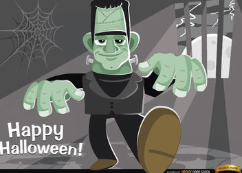 Frankenstein's Monster Halloween background - Free vector #165957