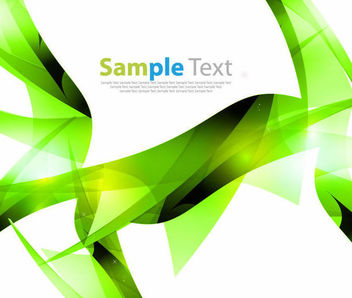 Geometric Green Wrinkles Abstract Background - vector gratuit #166057