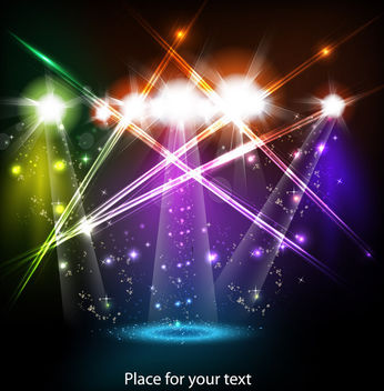 Colorful Stage Background with Spot Lights - бесплатный vector #166077