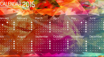 2015 Calendar polygon background - vector #166087 gratis