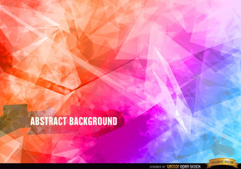 Abstract polygon crystal background - Free vector #166117
