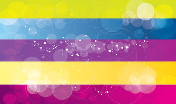 Bokeh Bubbles Background with Multicolor Rectangles - Free vector #166207