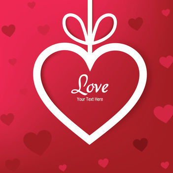Paper Cut Heart Applique Valentine Background - vector gratuit #166277