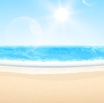 Abstract Summer Sea Beach with Blue Sky - vector gratuit #166337