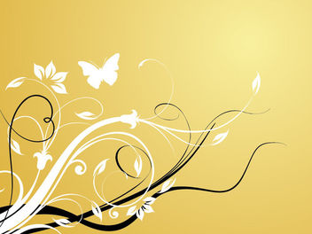 Classic Style Swirling Floristic Background - Free vector #166377