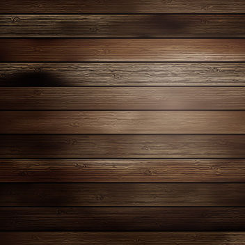 Old Realistic Wooden Planks with Shades - vector gratuit #166387