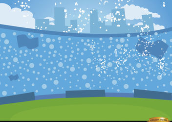Football crowds in bleachers - vector gratuit #166487